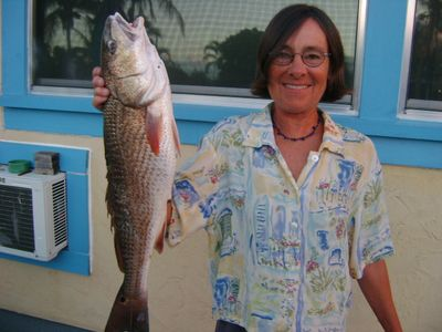 Chloe's 27 inch Red Drum March 25th 2012. Update 2013.01.09 - 25' red today!
