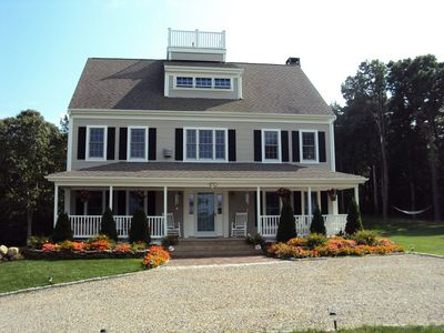 FRONT OF THE HOUSE, UPPER DRIVEWAY FOR PARKING,FARMERS PORCH,WIDOWS WALK,SEE PT