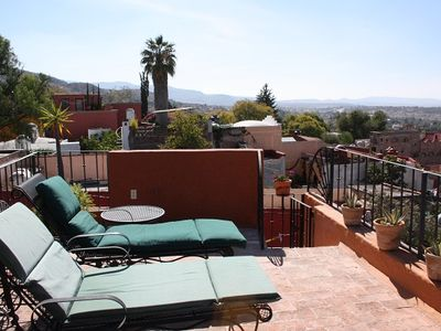 Third floor terrace with stunning view of San Miguel.