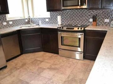 Hot Springs condo rental - Kitchen area with all stainless steel appliances.