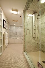 Boston apartment photo - Marble shower