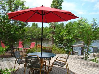 Old Naples apartment photo - Unbrella table on your private deck