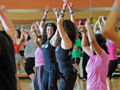 Zumba classes at our nearby YMCA