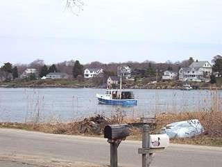 Kennebunkport house rental - View of harbor from front yard