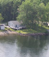 Camp Driftin with private sandy beach access and 100' Lakefrontage - South Hero cottage vacation rental photo