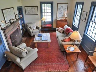 Edgartown house photo - Living Room Is Nicely Appointed & Features Original Raised Paneling