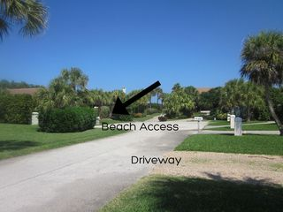 Vero Beach house photo - Listen to the waves! 20 steps from beach located at the end of a cul-de-sac.