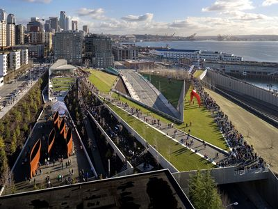 The Seattle Waterfront has a wonderful outdoor sculpture garden