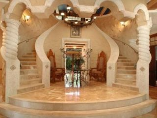 Tampa house photo - Grand Entrance Marble Double Staircase