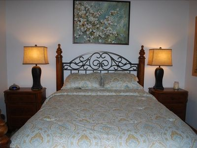 Queen bed in master BR