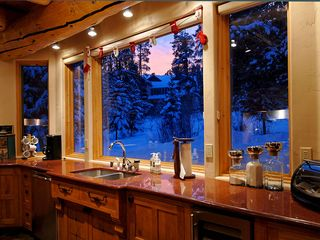 Four O'Clock Breckenridge house photo - Milano Meadows - Gourmet Kitchen at dusk
