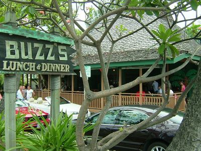 A short walk is Buzz's Steakhouse- the famous beachside restaurant and bar