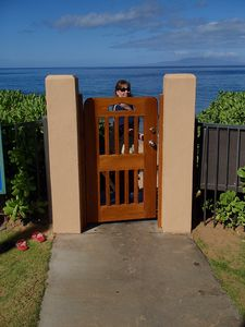 Gate from your Pavilion and main pool to the Beach.