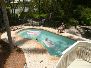 Sanibel Island house photo - The pool and pool deck have plenty of room for family fun and sun!