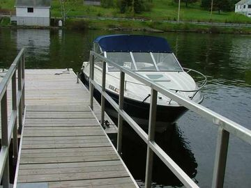 Private dock and waterfront access; bring your boat