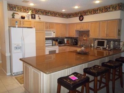 Kitchen, w/Flat Screen TV & Undercounter Radio and CD Player and Trash Compactor