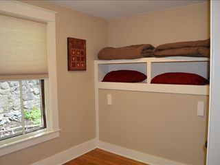 Lake Placid house photo - Bedroom with two twin murphy beds