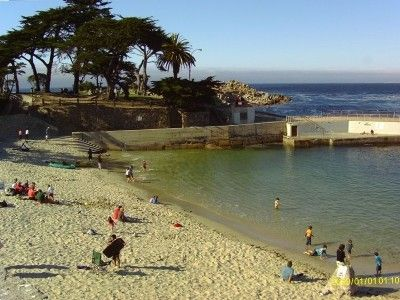Pacific Grove house rental - Lover's Point Beach and Park - Three-quarters of a mile from our house