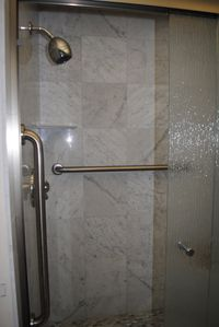 The newly renovated master shower.