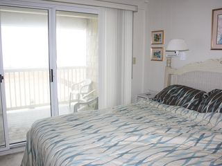 Ocean Colony Ocean City townhome photo - 2nd floor oceanfront bedroom with king bed and large oceanfront deck.