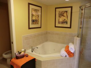 Bel Mare Ocean City condo photo - jacuzzi tub, shower, private potty off of master