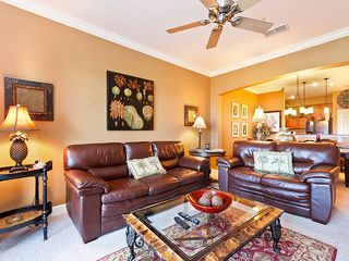 Ormond Beach condo photo - You won't mind a rainy day on our sumptuous leather couch