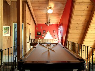 Full Sized Pool Table in the Loft overlooking the Living/Entertaining Floor