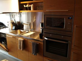 Vancouver apartment photo - Kitchen with microwave and oven