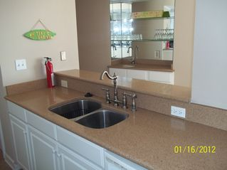 Gulf Shores condo photo - Sinks in kitchen with plenty of work space.