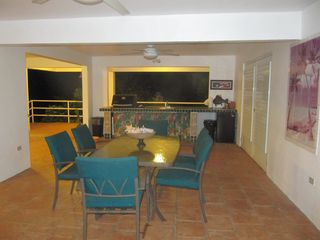 Vieques Island house photo - Downstairs dining table.