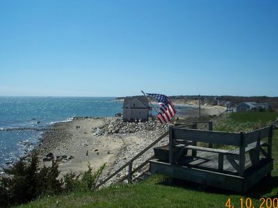 Plymouth house rental - Ocean View from the House and stairs going to beach, Ocean views from every room