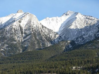 Canmore condo rental - View from balcony