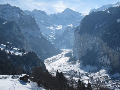 Lauterbrunnen Valley from Wengen