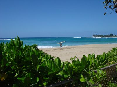 Famous Makaha Beach from our front yard
