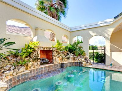 You'll adore our unique courtyard - Royal Swan has a unique courtyard packed with extras like a heated pool, outdoor kitchen, and spacious patio! Palm Coast, FL, is an idea site for your perfect beach vacation to Cinnamon Beach.