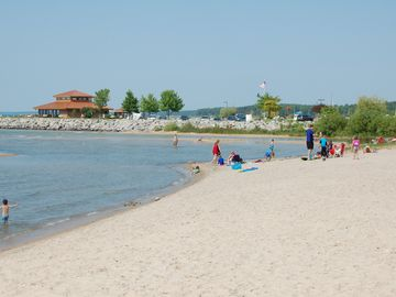Veterans Memorial Park beach-the largest of the two public beaches in town.