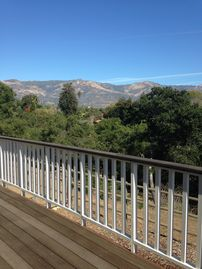 Hope Ranch cottage rental - View from the main deck of the Cottage.