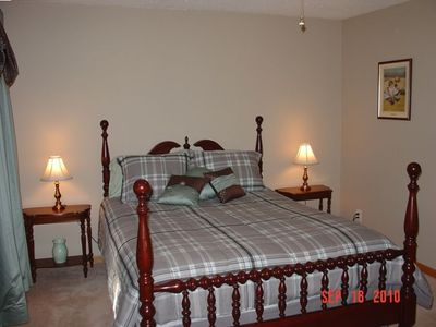 Rest comfortably in our bedrooms furnished with linens.