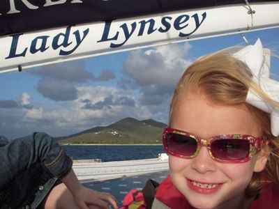 Livin' the life on Lady Lynsey on the bay at Ritz Carlton Club, St. Thomas.