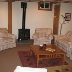 Belleayre Mountain house photo - Relaxing living room with gas stove!