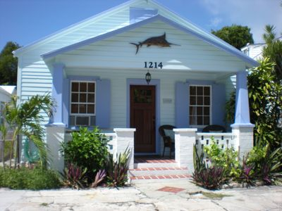 quaint conch cottage on quiet residential street. Parking in front for one car.