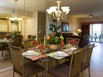 Celebration condo rental - Dining Area and Living ROom at the Mystic Dunes Resort