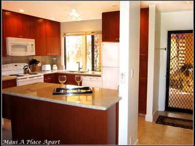 Wailea condo rental - Kitchen from unit 21B Ekahi Village, One Bed-Two Bath, Partial Ocean View