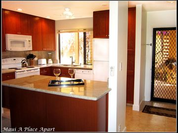 Kitchen from unit 21B Ekahi Village, One Bed-Two Bath, Partial Ocean View