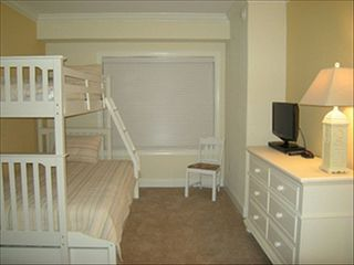 Belmont Towers Ocean City condo photo - Double Bed w/Bunk above & Roll under bed