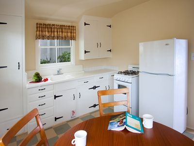 Carmel cottage rental - Studio sized appliances.