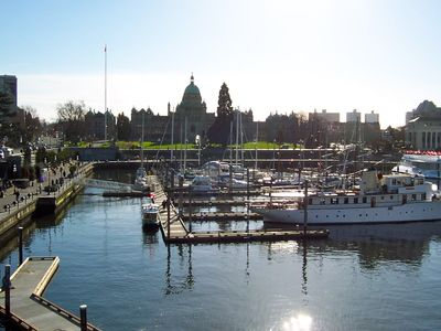 Victoria's Inner Harbour is just 2 blocks away from the Metro Suite