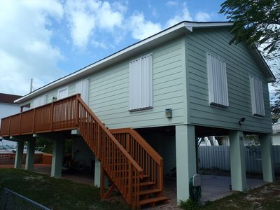 Our home: never rented prior Dec 2012. New paint, restored wood deck and porch.