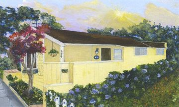 "Pacific Grove house rental - Welcome to ""Heart's Delight""! Local artist's watercolor of this lovely home."
