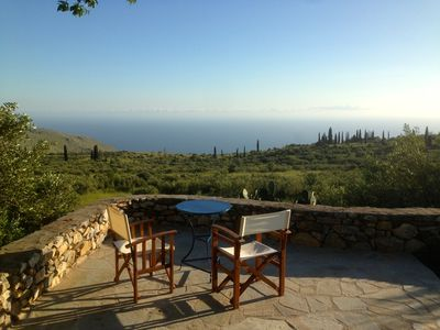A medieval tower house in the Peloponnese with amazing sea and sunset views